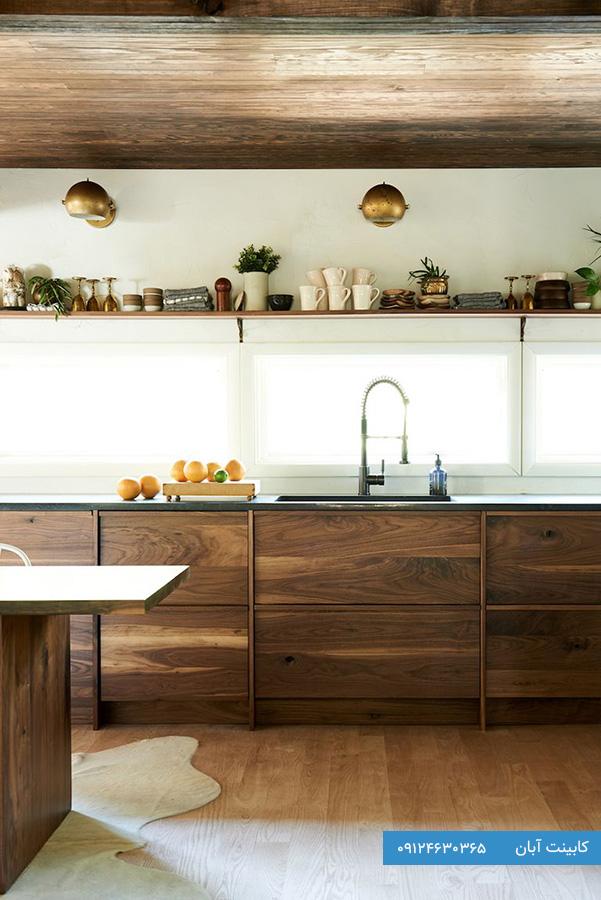 کابینت آشپزخانه مدرن چوبی