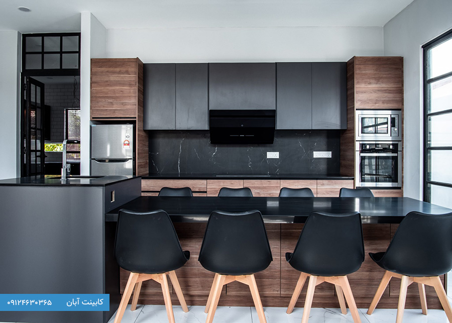 کابینت آشپزخانه مدرن سیاه
