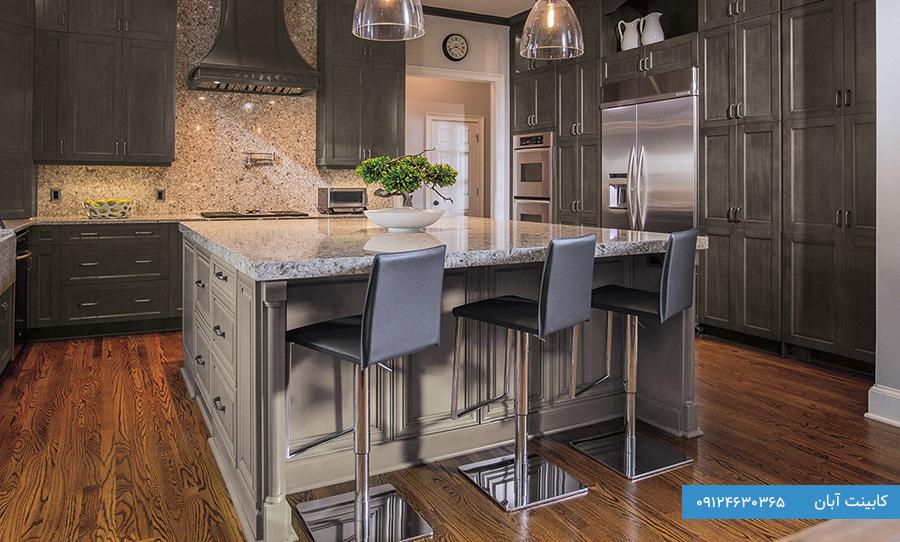 کابینت آشپزخانه مدرن قهوه ای