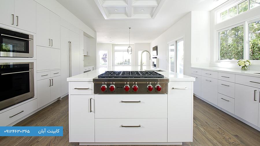 کابینت آشپزخانه مدرن سفید