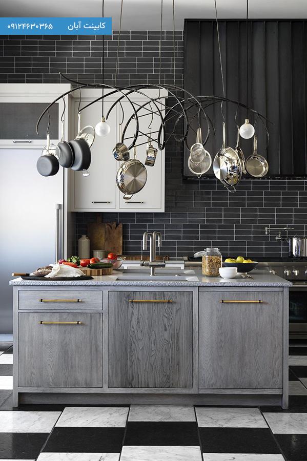 کابینت آشپزخانه مدرن خاکستری