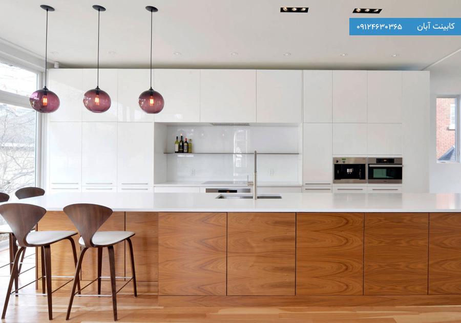 کابینت آشپزخانه مدرن طرح چوب