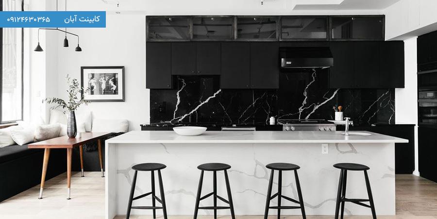 کابینت آشپزخانه مدرن مشکی