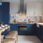 آشپزخانه مستطیلی L شکل