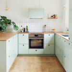 آشپزخانه مستطیلی U شکل