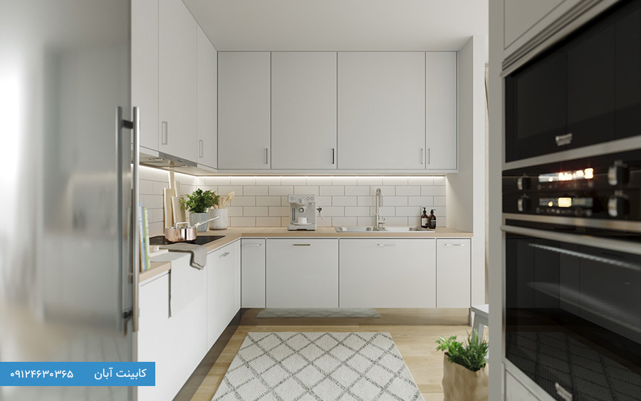 مدل کابینت آشپزخانه کوچک ال