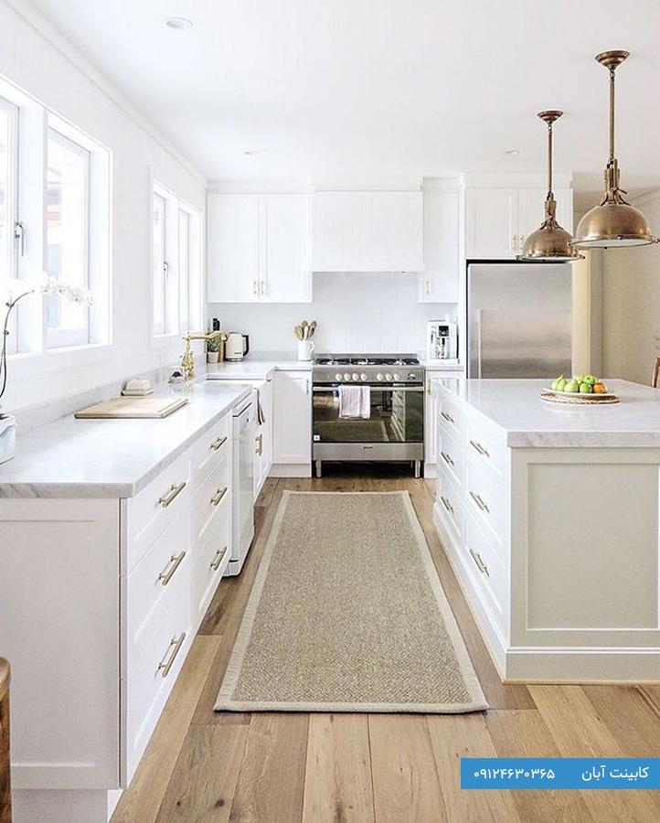 کابینت آشپزخانه کلاسیک سفید