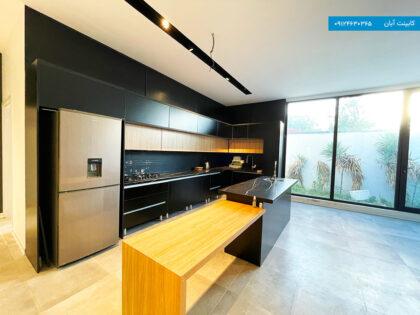 کابینت آشپزخانه ام دی اف ساده رنگ مشکی
